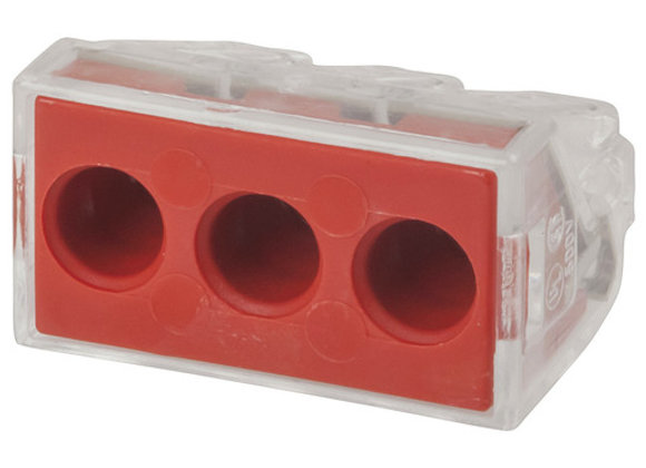 CONN 3 WAY 400V 41A WAGO PUSH WIRE RED