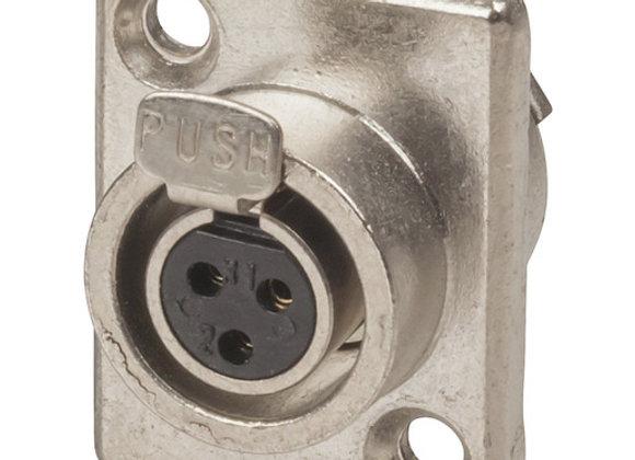 SKT PNL MINI XLR/3P SLV LOCK