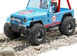 BR1:16 Jeep Cross Country racer blue with driver