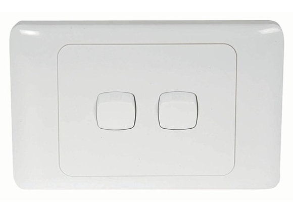SWITCH MAINS WALL DBL