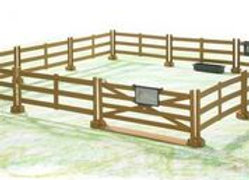 Bworld Accessories: Pasture fence -Post & Rail (brown), (rep