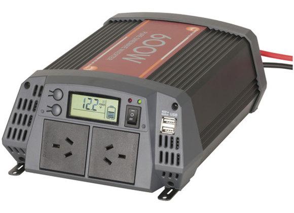 INVERTER SINEWAVE 600W 12VDC/230 20ASOLR
