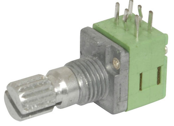 POT PCB LIN DG 9MM B50K MET SPLINE/18TH