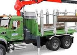BR 1:16 MACK Granite Timber Truck w/Crane & Logs
