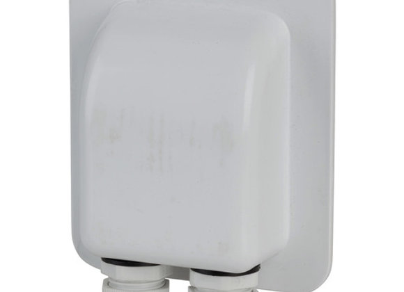BRKT SOLAR CABLE ENTRY MNT ABS WHT W/GMT
