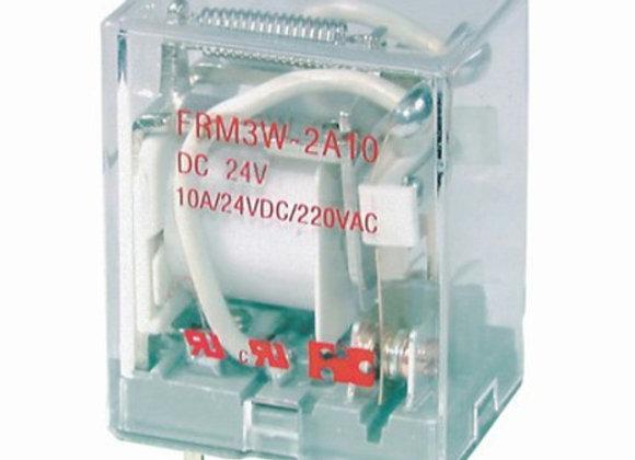 RELAY CRADLE / PCB 24VDC 10A@240VAC DPDT
