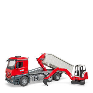 Singleton Hi-fi Hunter Valley Bruder toys red tipper truck escavator