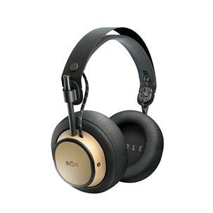 Singleton Hi-fi Hunter Valley House of Marley Exodus Over Ear Bluetooth Headphones black gold