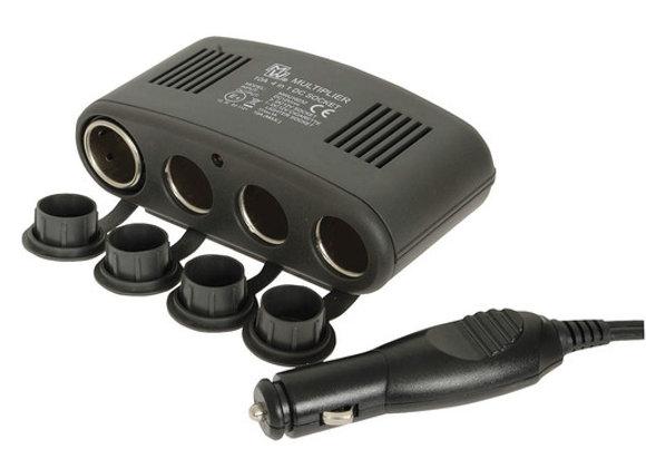 SPLITTER CIG LIGHTER 4-WAY W/USB SKT