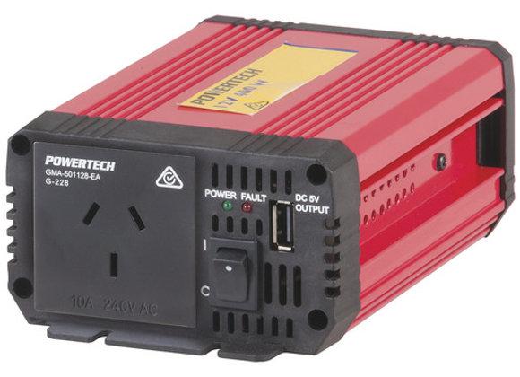 INVERTER MSW 400W 12VDC/230VAC 50HZ USB