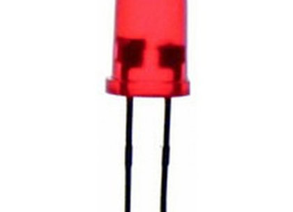 LED 5MM DIF RED FLASH 50MCD
