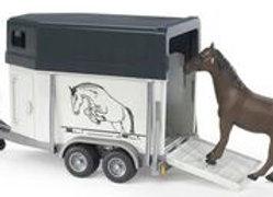 BR1:16 Horse Trailer incl. 1 Horse