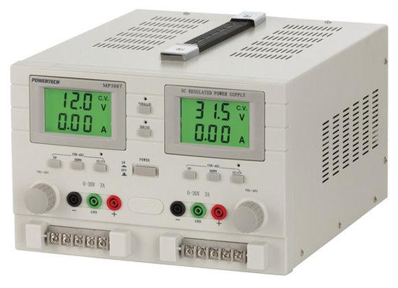 PSU LAB 0-30VDC 3A X2 DUAL TRK W/LCD