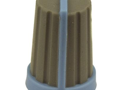 KNOB PLAST PUSH ON 18T SPLINE GRY/BLU