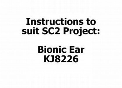 INSTRUCT SC2 #15 BIONIC EAR