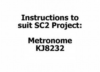 INSTRUCT SC2 #13 METRONOME