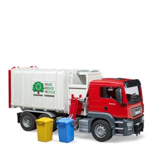 Singleton Hi-fi Hunter Valley Bruder toys red recycle garbage truck and garbage bins