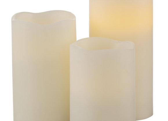 LIGHT LED CANDLE 3PC SET W/ REM ELECT (DISCONTINUED