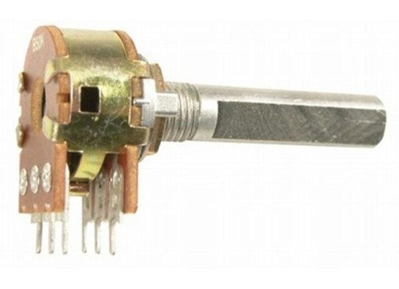POT PCB LOG DG 16MM A10K STD IMP SHAFT