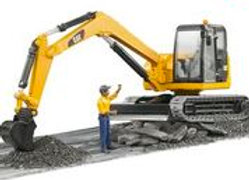 BR 1:16 Caterpillar Mini Excavator with Worker