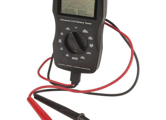TESTER BATTERY UNIVERSAL W/LCD USB LEADS