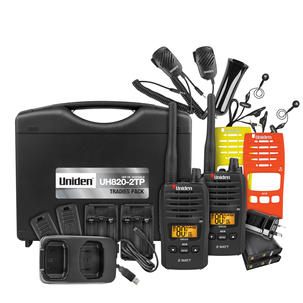 Singleton Hifi Hunter Valley Uniden 80 Channels 2 Watt UHF Handheld Tradies Pack UH820S-2TP