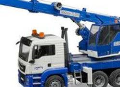 BR1:16 MAN TGS Crane track with Light + Sound Module