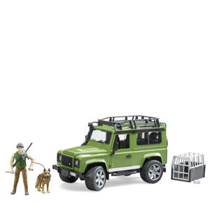 Singleton Hi-fi Hunter Valley Bruder toys green Land Rover 4WD with man and dog