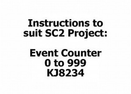 INSTRUCT SC2 #20 3DIGIT EVENT COUNTER