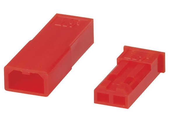 CONN 2-PIN JST W/CRIMP M+F RED 2-PAIR