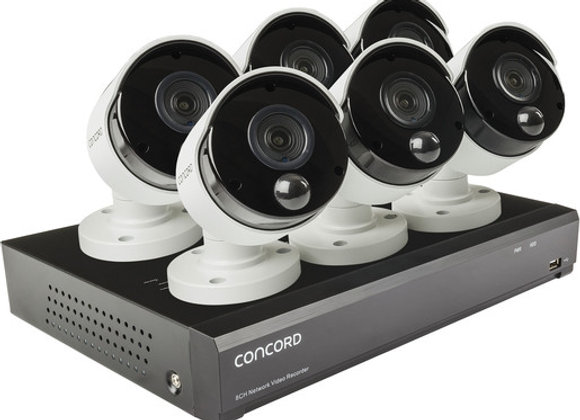 Concord 8 Channel 4K NVR Package - 6x5MP Cameras