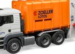 BR1:16 MAN TGS Rear loading garbage truck (orange)