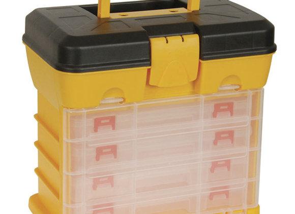 STORAGE BOX ORGANISER 13 COMP X4 W/CASE