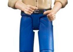Bworld Man, light skin in Blue Jeans