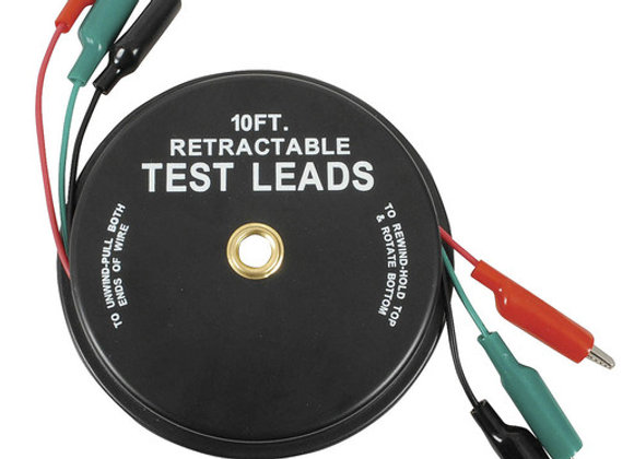 TEST LEAD RETRACT RED/GRN/BLK 3MT