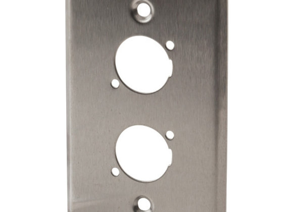 WALL PLATE S/S PRE-PUNCH 2XXLR/CANNON