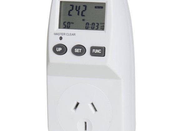 MAINS LCD POWER METER WHT 240VAC