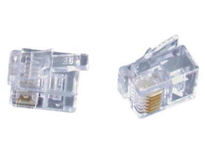 PLG RJ12 6P/6C (STRND CABLE) PK5