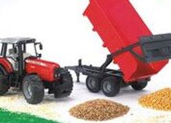 BR1:16 Massey Ferguson 7480 Tractor w/Tipping Trailer