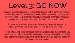 Level 3: GO NOW