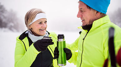 a-senior-couple-cross-country-skiing-in-