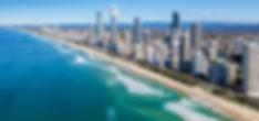 Sunny view of Gold Coast, Queensland, Au