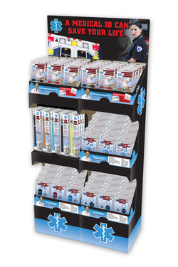 Floor Display with multiple products