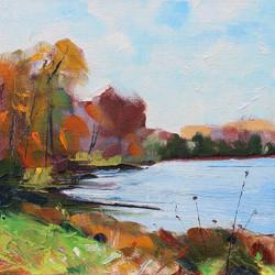 SOLD - Autumn Lakeside