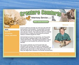 Little Cabin Creative Website graphic layout