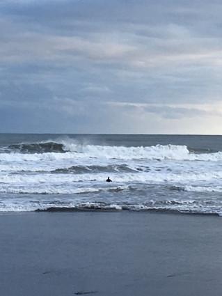 Winter Surfing at Higgins, Beach