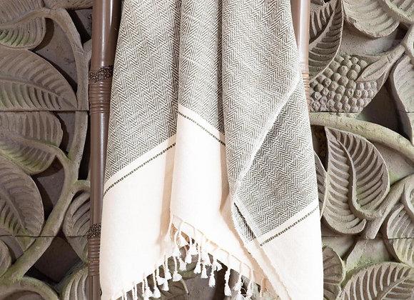Cotton Blanket | Dark Leaf