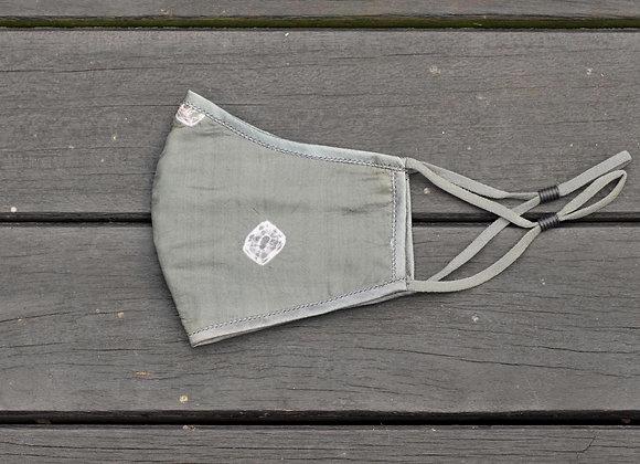 Silk Mask 'Star' | Dusty Olive