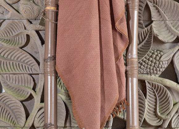 Cotton Blanket | Lilac Brown