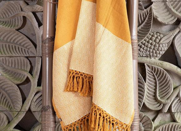 Cotton Blanket   Ocher